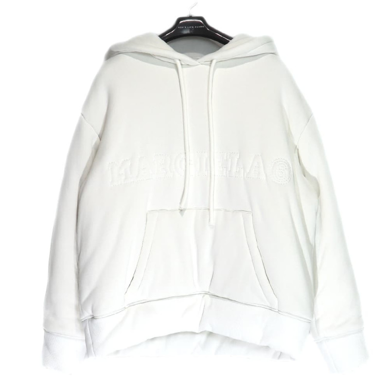 MM6 Maison Margiela / MM ホワイトパットロゴフーディー<br>Size:S ¥107,800 tax in