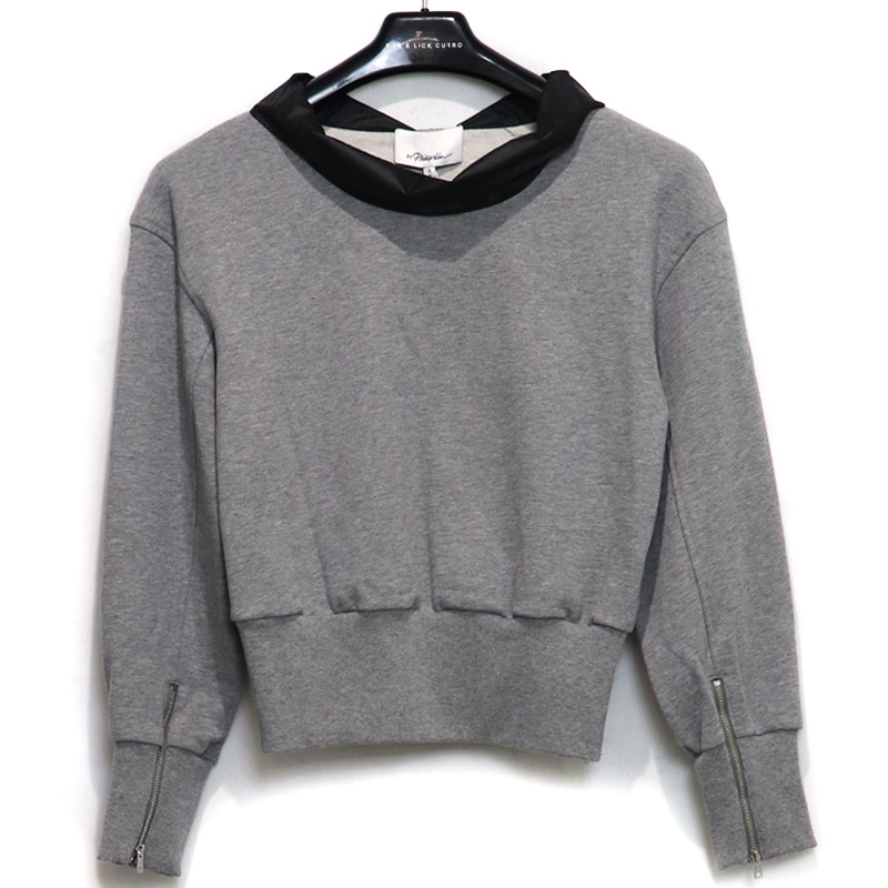 3.1Phiillip Lim / PH 3/4 SLV FRENCH TERRY COWL NECK PO<br>Size:S ¥42,900 tax in