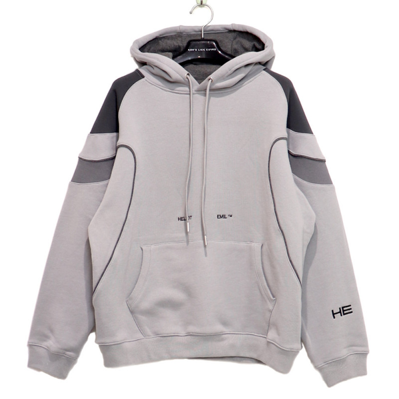 HELIOT EMIL / HE Panel Hoodie<br>Size:XL ¥35,000 →¥24,640 tax in