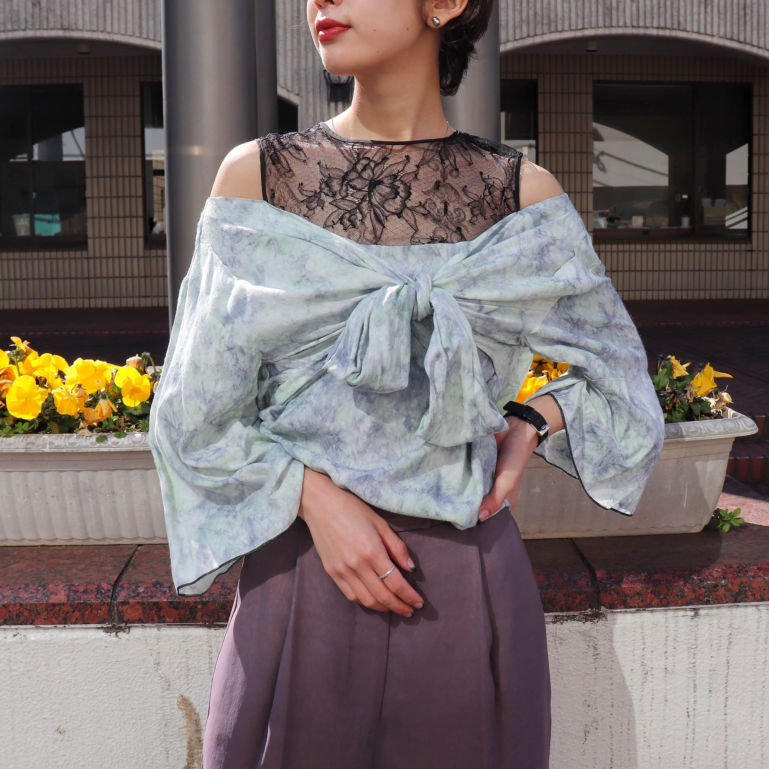 STAIR / BAMBOO JAQUARD BLOUSE